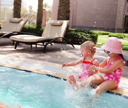 image of children enjoying the swimming pool